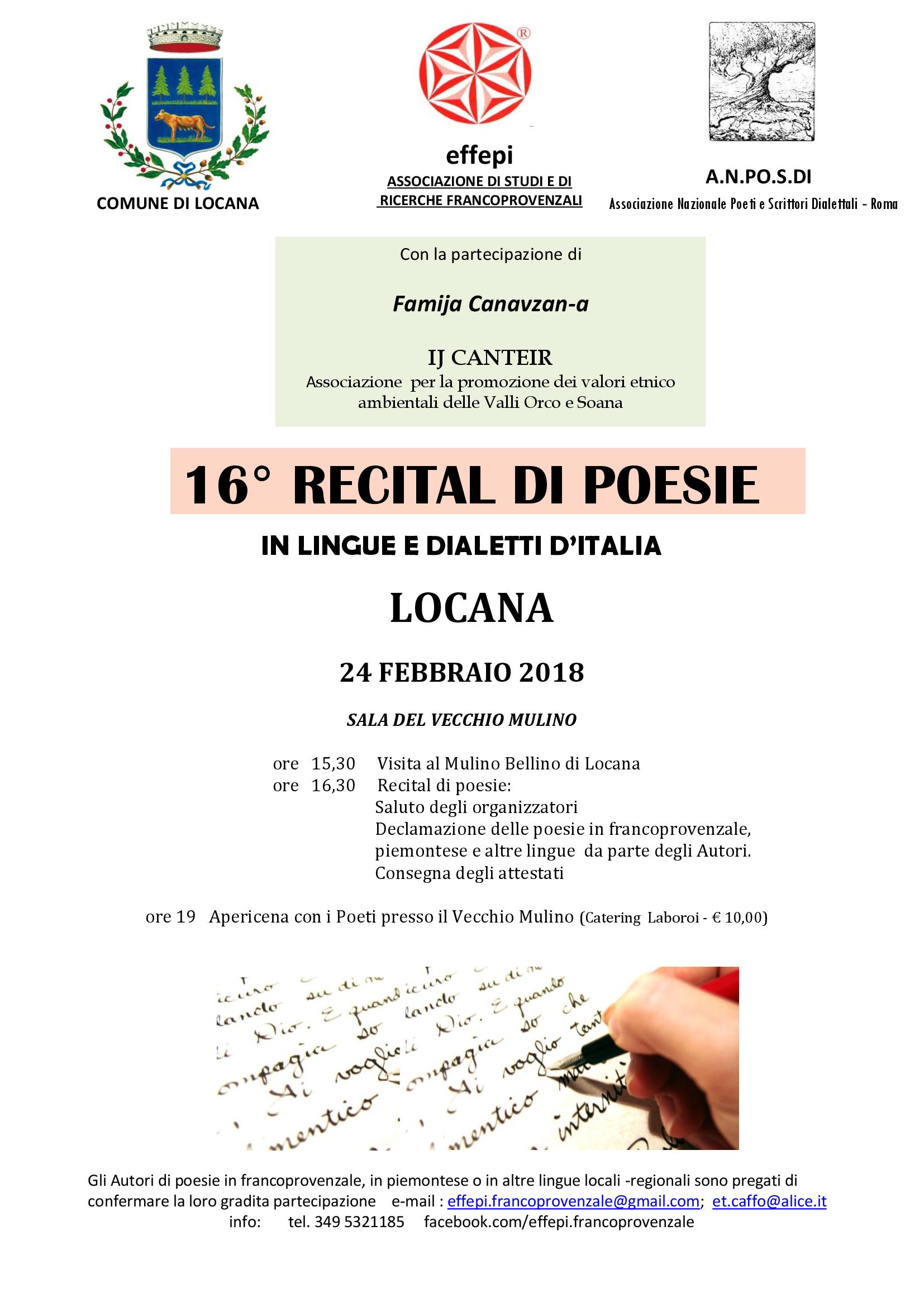 Comunicato Effepi 16 Recital Di Poesie In Lingue E Dialetti D