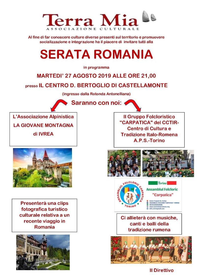 Calendario Romena 2019.Castellamonte Martedi 27 Agosto Serata Rumena A Cura Dell