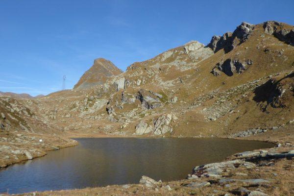 Lago Santanel con Monte Nero e piu' a dx il Monte Santanel