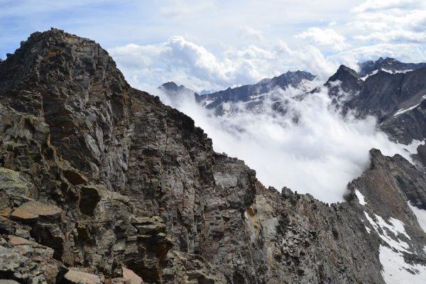 Cresta di bardoney dalla cima nord